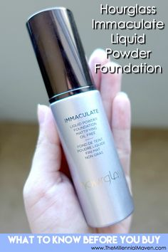Hourglass Immaculate Liquid Powder Foundation review. Find out about the Hourglass foundation formula, reactions with different skin types, & all its little quirks. Is this foundation right for you?