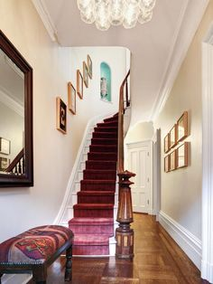 This Old House editor Scott Omelianuk's neutral entryway and stairs. Simple and stunning.