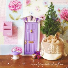 Mince pies anyone? We have plenty to go round behind our Fairy Door!