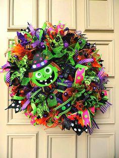 Halloween Witch Wreath Halloween Deco Mesh Wreath Halloween