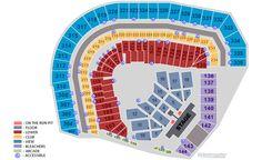 On The Run Tour 2014 - Beyoncé  Jay Seating Plan AT T Park San Francisco 05.08.2014