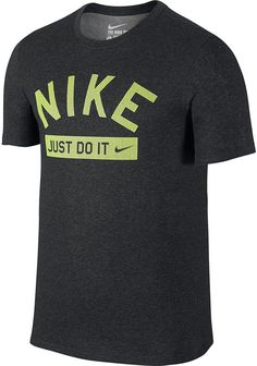 This men's Nike graphic tee gives you a casual look that will become a favorite. PRODUCT FEATURES Crewneck Short sleeves Cotton, polyester Machine wash Imported