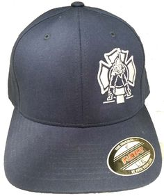 6c9b869402a This firefighter Sled Strike hat design features a maltese cross with a  firefighter striking a keiser