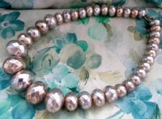 Delightful Vintage 1960s Oversized Silver Variagated Beaded Necklace, Ladies Jewellery, Mod, Kitsch, Baby-Doll, Boho, Retrox Retro Clothing, Women Jewelry, Unique Jewelry, Vintage Knitting, Retro Outfits, Kitsch, 1980s, Baby Dolls, Knit Crochet