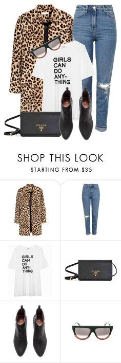 """""""You Can Do Anything"""" by monmondefou ❤ liked on Polyvore featuring Topshop, Prada and leopard"""