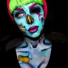 pop art zombie makeup - Google Search