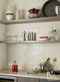 """Coco 6"""" in T04 Parchment by Red Rock Tileworks"""