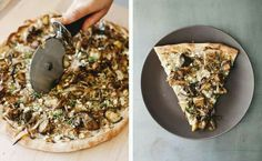 Roasted eggplant + za'atar pizza