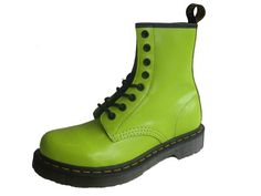 Lime green Docs. ZOMG, my favourite shoes in my favourite colour!