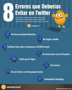 8 errores que deberías evitar en Twitter.