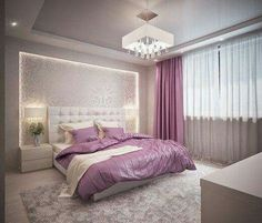See this photo of on In … - Home Decor ideas Luxury Bedroom Design, Room Design Bedroom, Modern Bedroom, Bedroom Wall, Home Interior Design, Bedroom Furniture, Bedroom Decor, Modern Furniture, Bedroom Ideas
