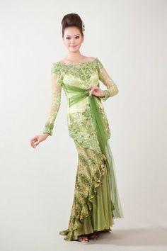 wedding kebaya modern dress 2016 - super green