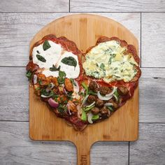 Heart-Shaped Scalloped Potato–Crust Pizza