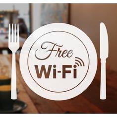 Free WiFi vinyl Sticker Decal Window Shop Cafe