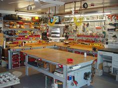 awesome workbench idea for DIY garage, tool organization.