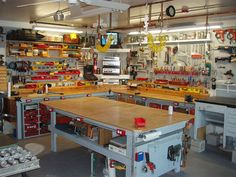 awesome workbench idea for DIY garage, tool organization.