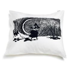 Moomin - Pillowcase -Snufkin- black and white
