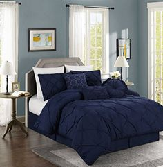 Chezmoi Collection Sydney 7-piece Pintuck Bedding Comforter Set (Queen, Navy) Chezmoi Collection http://www.amazon.com/dp/B013IWB58C/ref=cm_sw_r_pi_dp_n.4.vb1JZSDJA