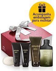 Presente Natura Kaiak Urbe - Desodorante Colônia + Shampoo + Gel para Barbear + Gel após Barba + Sabonete em Barra + Embalagem Perfume, Shampoo, Coffee, Drinks, Shaving, Valentine's Day Diy, Hand Soaps, Packaging, Gift
