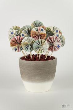 DIY Bouquet - money gift to the wedding - DIY Geldgeschenke selber machen - DIY & Crafts