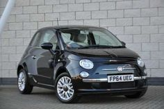 Used 2015 (64 reg) Black Fiat 500 1.2 Lounge 3dr [Start Stop] for sale on RAC Cars