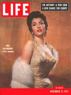 Life Magazine Cover Copyright 1954 Gina Lollobrigida - www.MadMenArt.com…