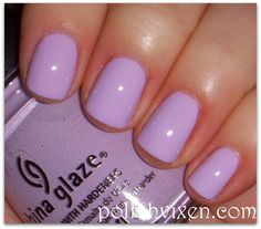 "Just did my nails in this color:  China Glaze ""Sweet Hook""  Perfect for spring!!"