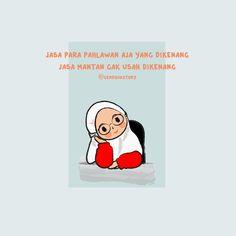Muslim Quotes, Islamic Quotes, Cute Cartoon Quotes, Quran Quotes, Me Quotes, Chibi Wallpaper, Cinta Quotes, Islamic Cartoon, Anime Muslim