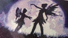 Fairy Sisters in Moonlight Diamond Painting Home Decoration