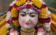 To view Radha Close Up Wallpaper of ISKCON Houston in difference sizes visit - http://harekrishnawallpapers.com/sri-radha-close-up-iskcon-houston-wallpaper-002/