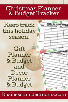 Keep track of your spending on gifts, decor and more with this free printable Christmas Planner and Budget Tracker!