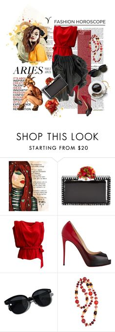"""Aries • Fashion Hororscope"" by ultracake ❤ liked on Polyvore featuring Dolce&Gabbana, Charlotte Olympia, Vivienne Westwood Anglomania, Christian Louboutin, Oliver Peoples, Givenchy, zodiac, Aries and fashionhoroscope"