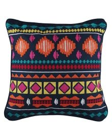 "Aztec Embroidered Decorative PIllow - 18"" x 18"", Main View"