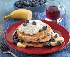 Healthy Raspberry & Banana Pancakes