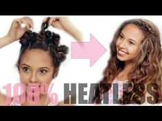 Heatless Spiral Curls (Bantu Knot Out Inspired) - Easy + Inexpensive! - YouTube