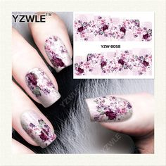YZWLE 1 Sheet DIY Decals Nails Art Water Transfer Printing Stickers Accessories For Manicure Salon  YZW-8058