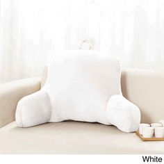 Sweet Home Collection Multicolored Polyester 20-inch x 31-inch x 14-inch Plush Bed Rest Pillow (