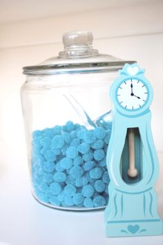 Blue candy apothecary jar!