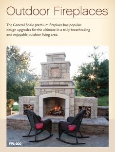 outdoor fireplace idea with brick
