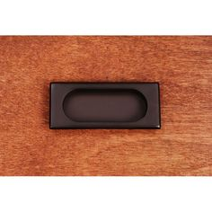 """This oil rubbed bronze finish cabinet/drawer flush pull with thick rectangle design and 7/16"""" recess is from RK International perfect for use on cabinet doors and drawers capable of accepting a mounted pull."""