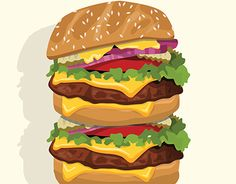Vector of Big burger