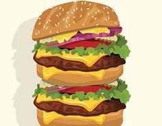 Vector of Big burger
