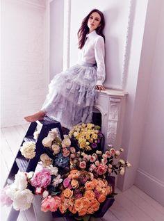 Keira Knightley per Harper's Bazaar UK | Shabby Chic Mania by Grazia Maiolino