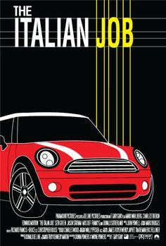 The Italian Job - Minimal Movie Poster by Jake Shibe The Devil Inside, The Italian Job, Minimal Movie Posters, Alternative Movie Posters, Minimalist Poster, Box Office, Film Movie, Movies And Tv Shows, Minis