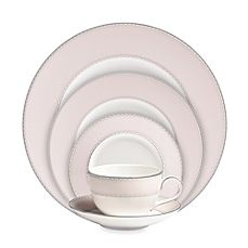Image Of Monique Lhuillier Waterford Dentelle Blush Dinnerware Collection China Sets Mikasa