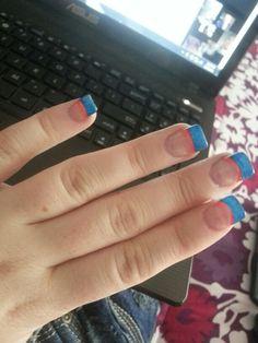 Broncos nails (: