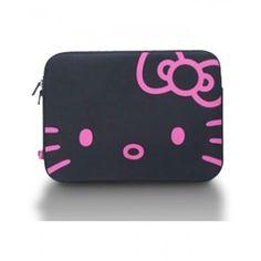 Hello Kitty Black Face Laptop Case-13