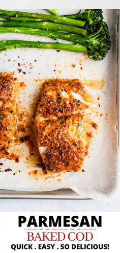 Parmesan Baked Cod - an easy, healthy, delicious seafood dinner! - This oven baked Parmesan Crusted Cod recipe is an easy fish meal to prepare for a quick, tasty weekn - Cod Recipes Oven, Cod Fish Recipes, Baked Salmon Recipes, Cooking Recipes, Healthy Recipes, Recipe For Cod Fish, Recipes For Cod, Chicken Recipes, Bread Recipes