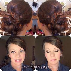 Braided updo for bridesmaids @hairandmakeupbyEmilyH