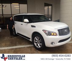 https://flic.kr/p/Noxpkm | Happy Anniversary to Shannon And Adam on your #Infiniti #QX56 from Steve Han at Greenville Chrysler Jeep Dodge Ram! | deliverymaxx.com/DealerReviews.aspx?DealerCode=J122